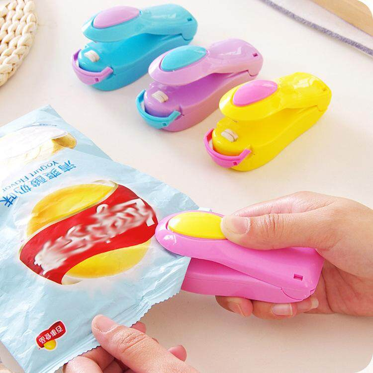 Mini Portable Handy Sealer Fast & Easy Sealing Reseal Any Plastic Bag – Keep Food Fresher Longer. Sealant with Fridge Magnet