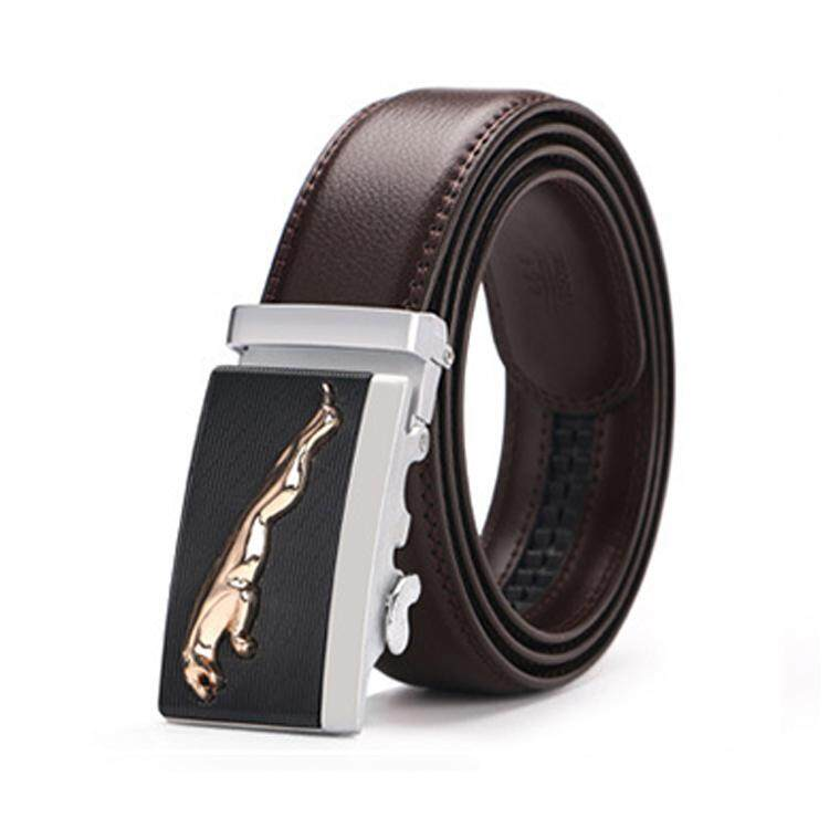 Doulilu Men Leather Belt Premium Quality Smooth Automatic Buckle Tali Pinggang Waist Belt 254 -MI2542