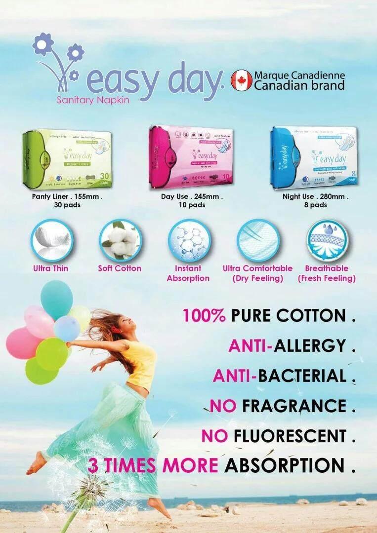 Canada Anti Infection Natural Sanitary Pad [Night Use (8pcs)]
