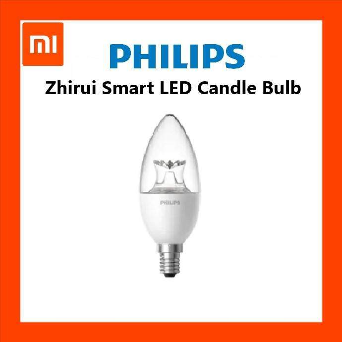 Xiaomi PHILIPS Zhirui Smart LED Bulb E14 Candle Lamp 220 - 240V Candle Light Bulbs Crystal Edition