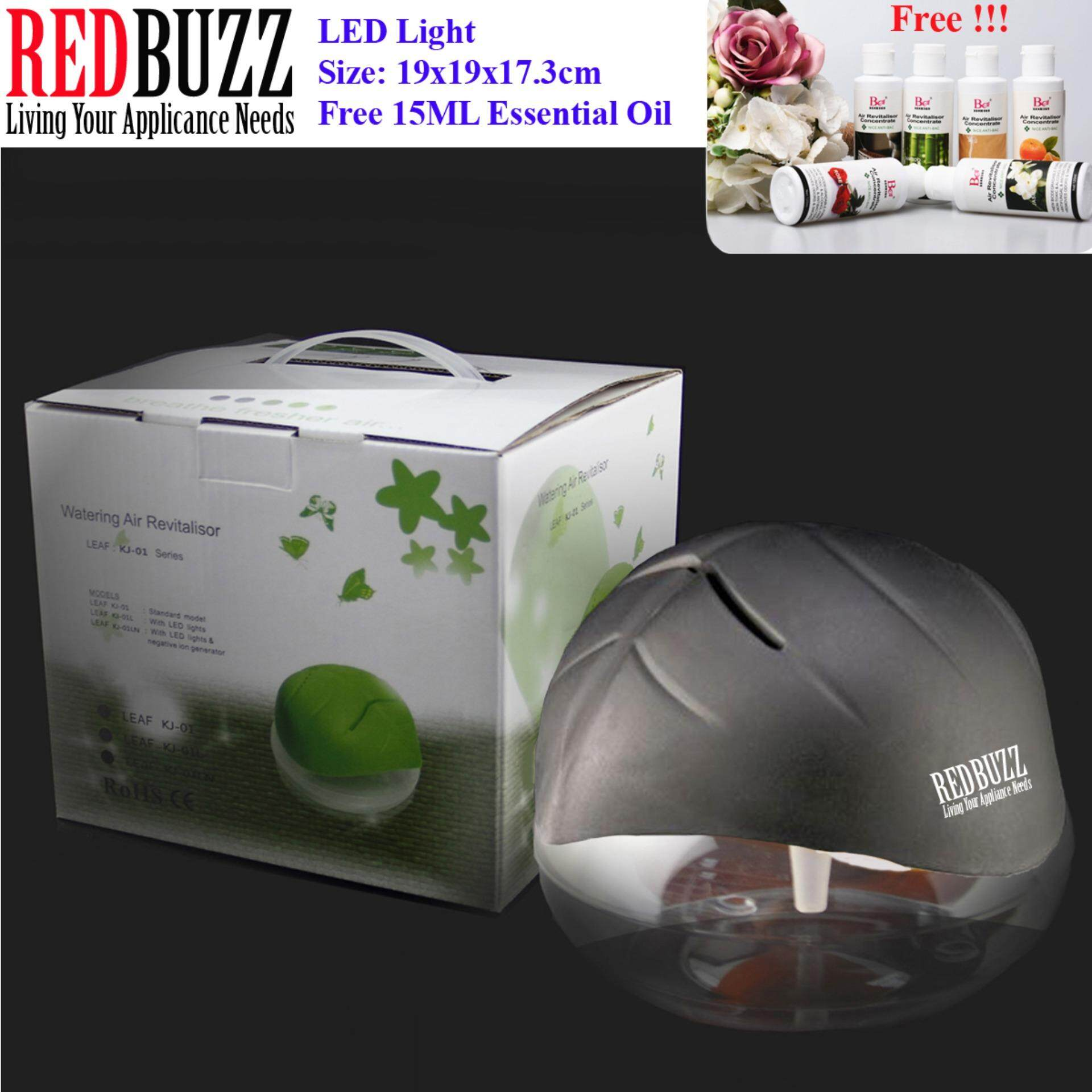 REDBUZZ Watering Air Revitalisor Fresh Air Purifier Aroma Diffuser with LED light + Free 15ML Essential Oil (Black Color)
