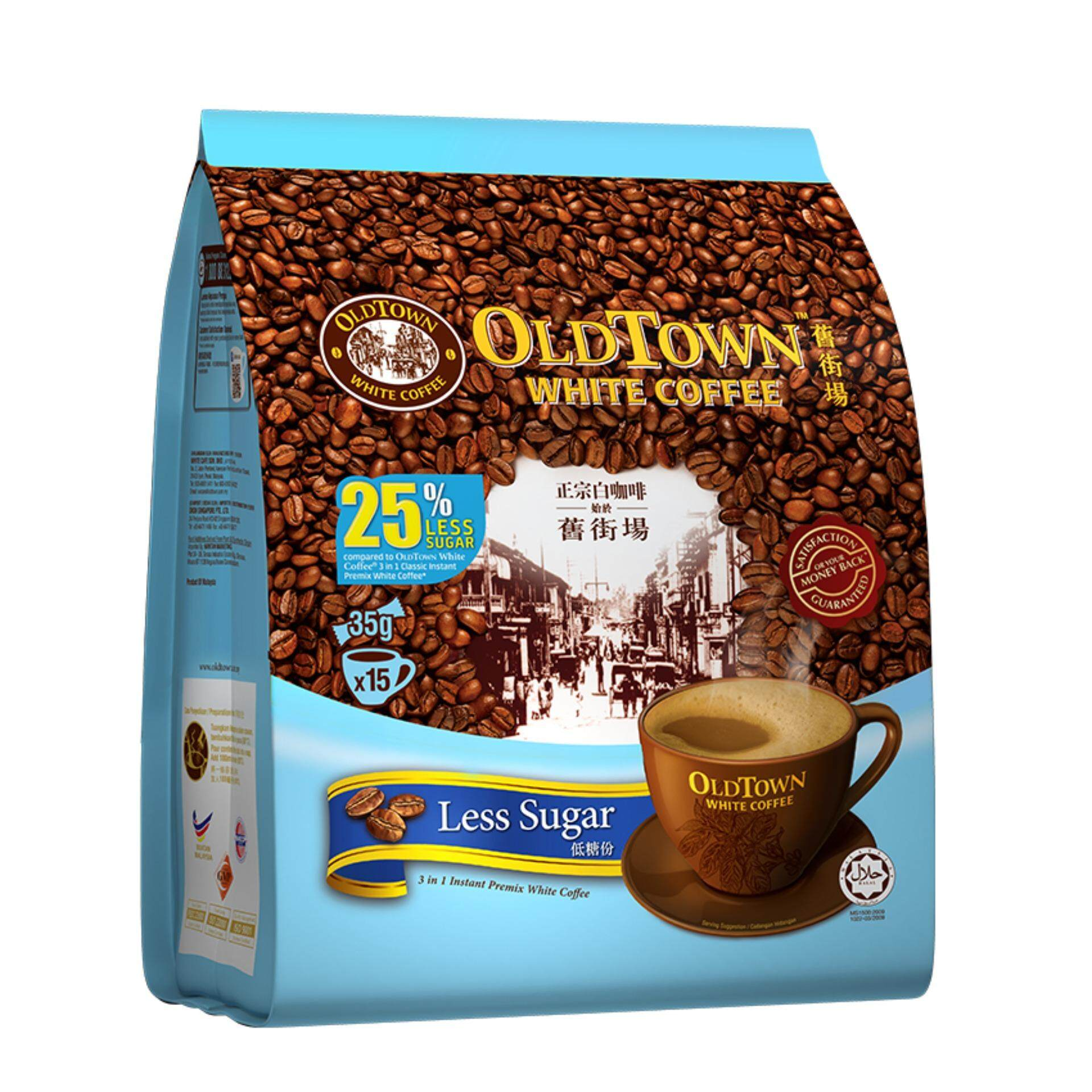 OLDTOWN White Coffee 3-in-1 Less Sugar Instant Premix White Coffee (15'S X 1 Pack)