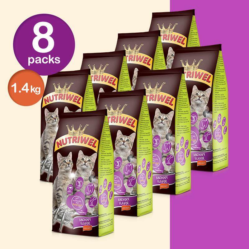 Nutriwel Cat Food Anchovy/Chicken Tuna/Mix Seafood Flavor 1.4 kg x 8 Packs [WangZheng Care]