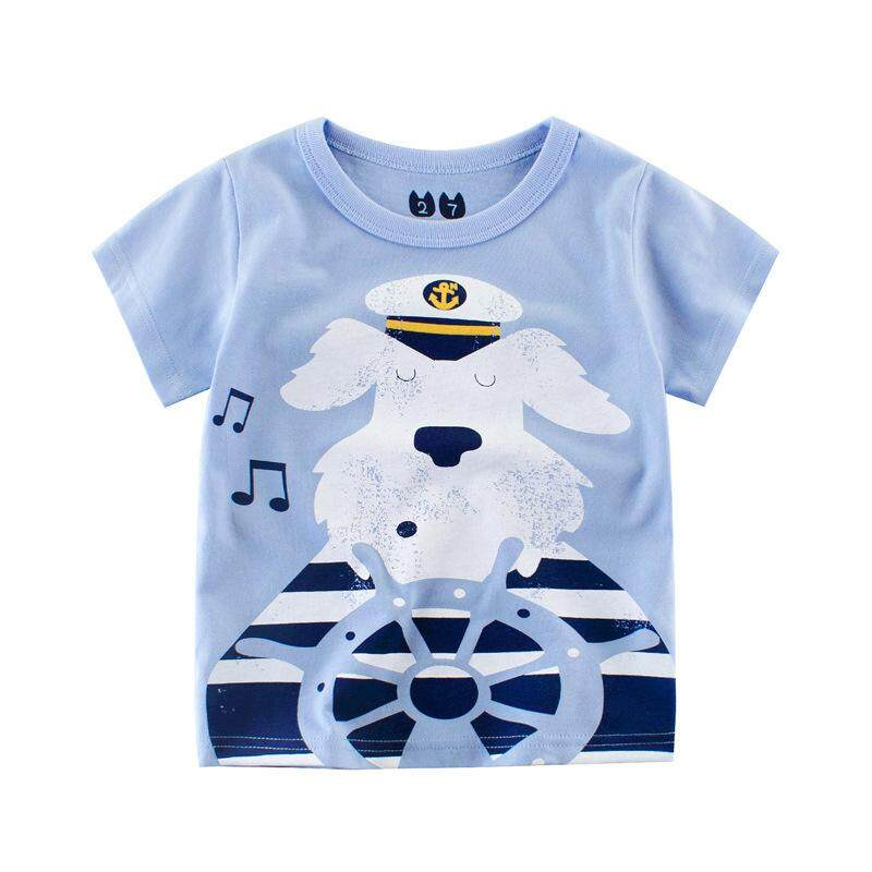 3bf0bbf7171 Children s Short Sleeved Summer Boy T Shirts Pure Cotton Cartoon Boys Girls  Tees Kids Clothing -