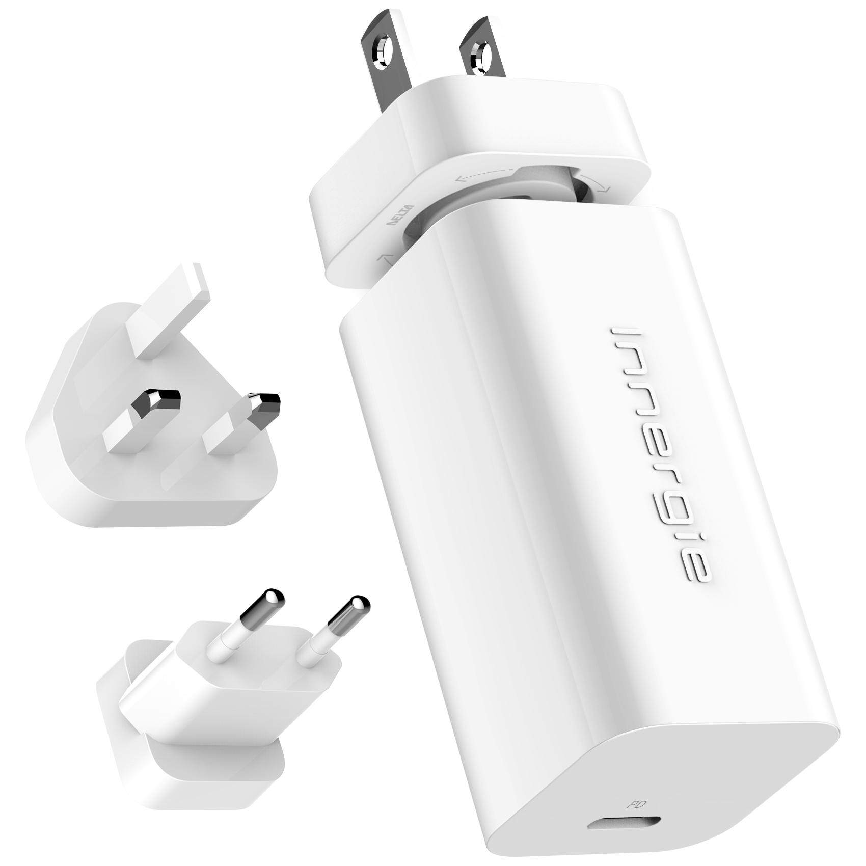 INNERGIE PowerGear 60C USB-C Laptop Adapter 60W Ultra Compact Travel Plug