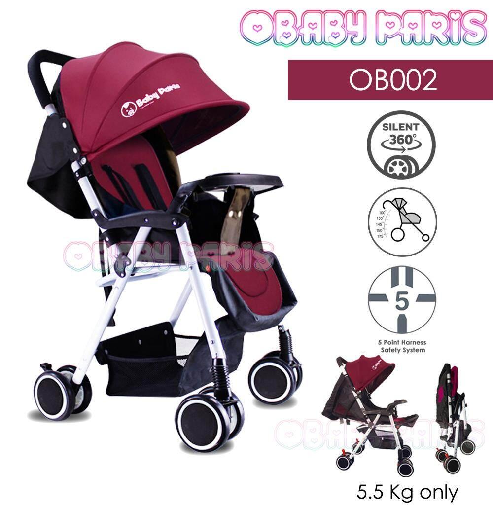 OBaby Paris OB002 Premium Light Weight Foldable Stroller (1 Year Warranty)