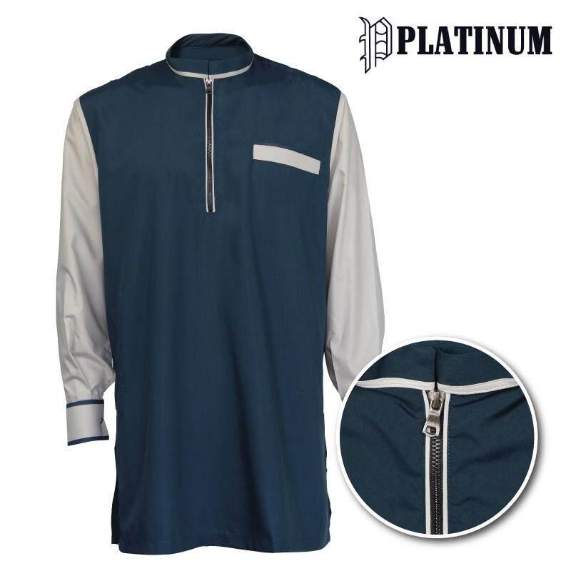 PLATINUM BIG SIZE Microfiber Kurta With Zip Mix & Match PM9153 (Turquoise Blue)