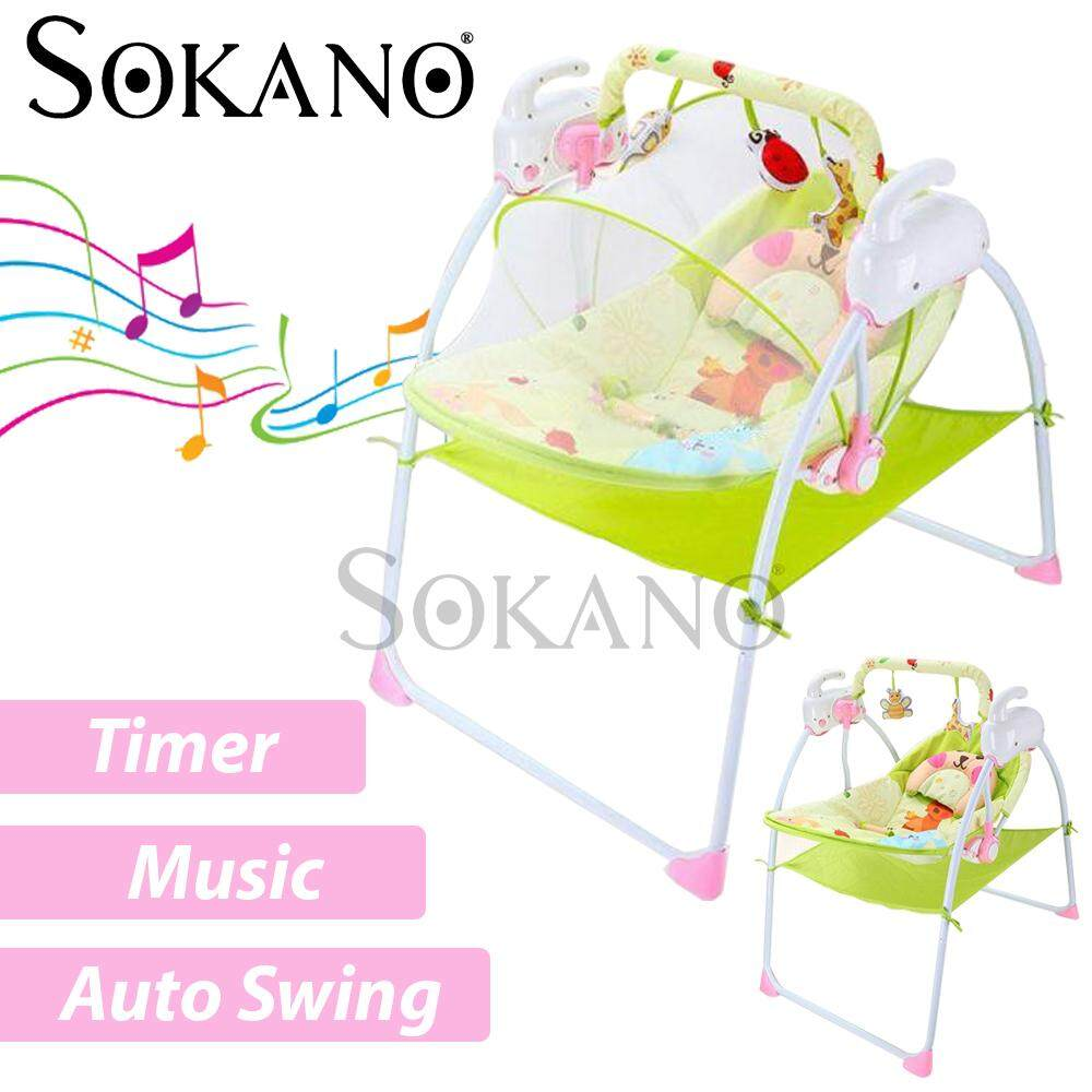 SOKANO 801 Auto Swing Electric Motorized Multi-Function Electronic Baby cradle with Timer and Melody
