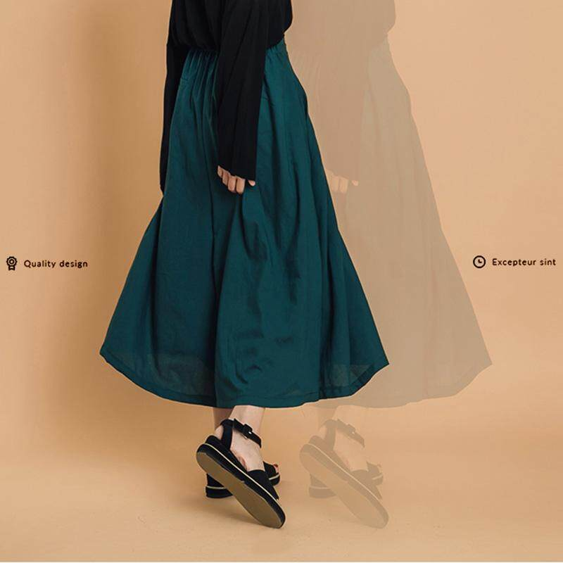 ?PRE-ORDER 21 DAYS?Oversized wide-leg skirt trousers high waist cropped flared pants