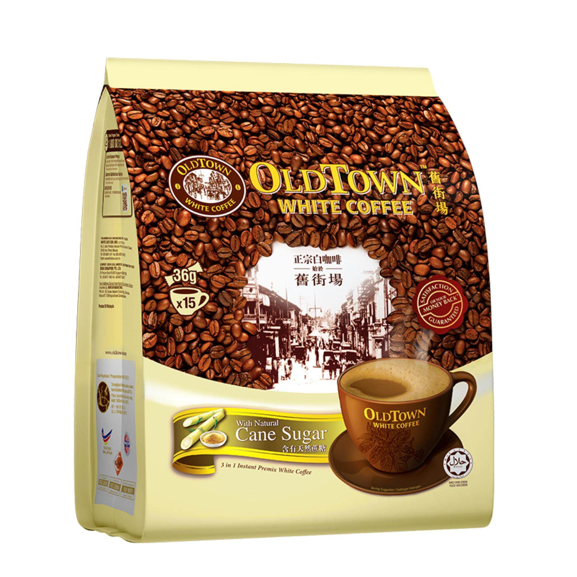 OLDTOWN White Coffee 3-in-1 Natural Cane Sugar Instant Premix White Coffee (15'S X 1 Pack)