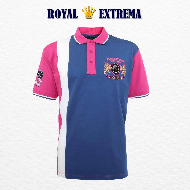 ROYAL EXTREMA BIG SIZE Cut & Sew Polo RE2003 (Rose Pink)
