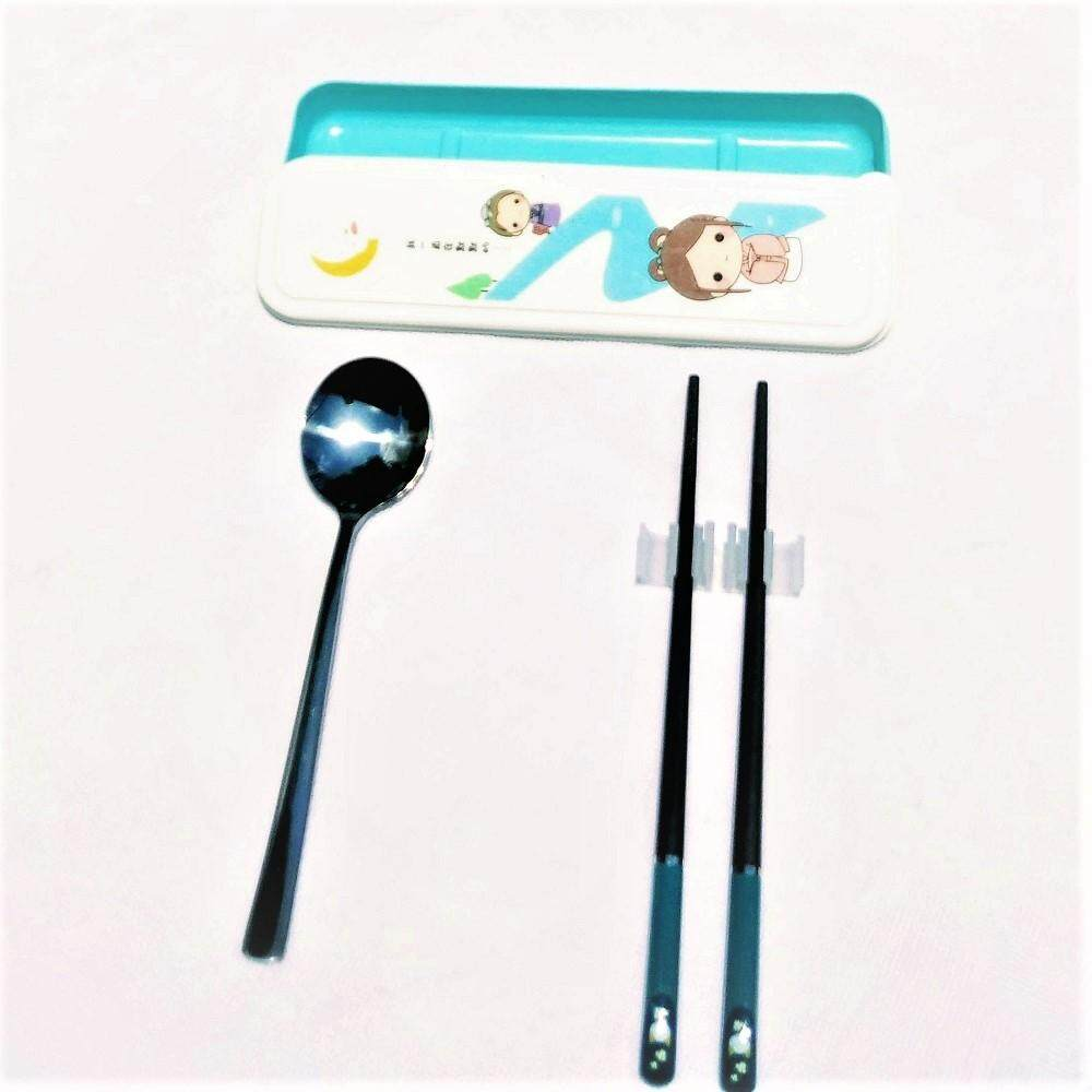 Stainless Steel Spoon and Alloy Chopstick Set