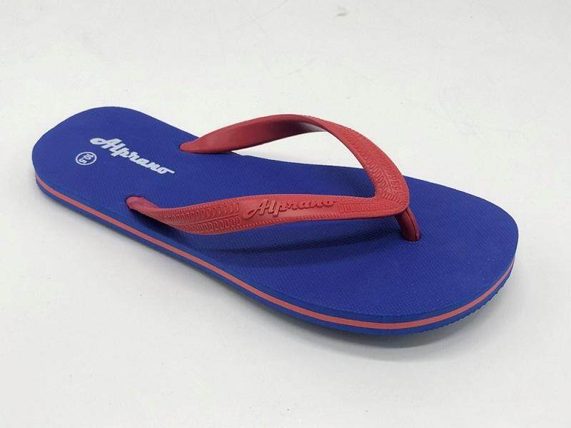 Alprano APM-06 Rubber Anti Slip Flat Slippers Beach Slippers Men Designs Size 9-11 (UK Size 10) (Blue)