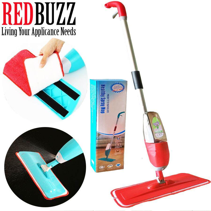 REDBUZZ Easy Spray Mop with Microfiber Mop (Red)