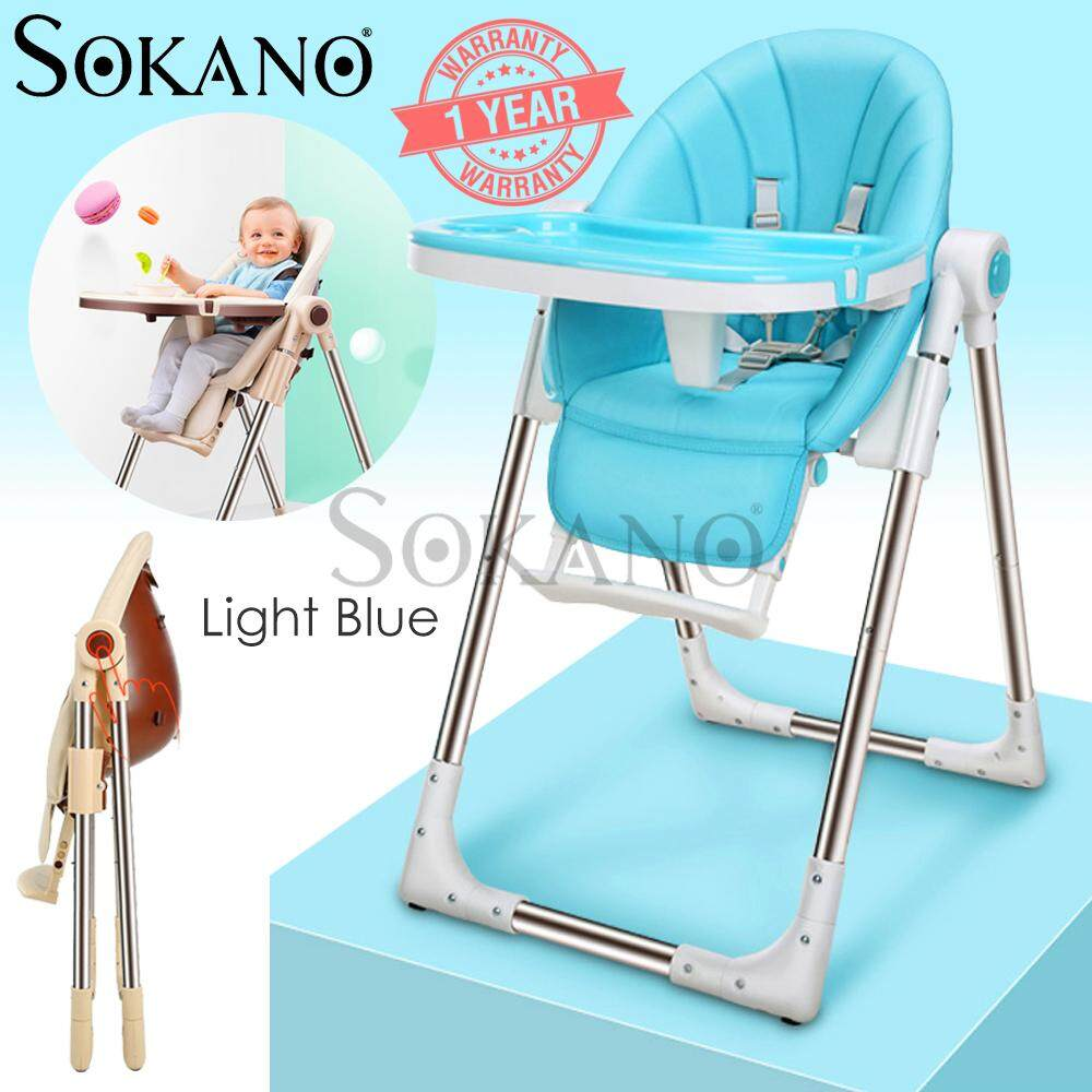 SOKANO A329 KD01 Multifunctional Foldable Baby Adjustable Dining Seat Baby High Chair