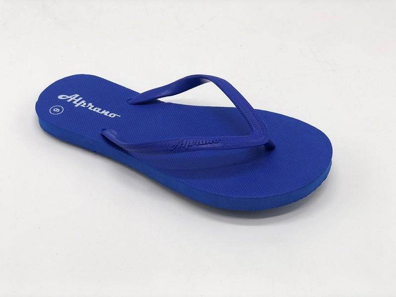 Alprano APL-01 Rubber Anti Slip Flat Slippers Beach Slippers Ladies Designs UK Size 6 (Blue)