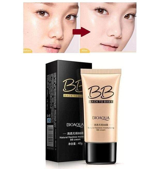 Bioaqua Back to Baby Flawless BB Cream (40g) – Moisturizing Natural Beauty Make up Concealer Oil Control Liquid Foundation NATURAL