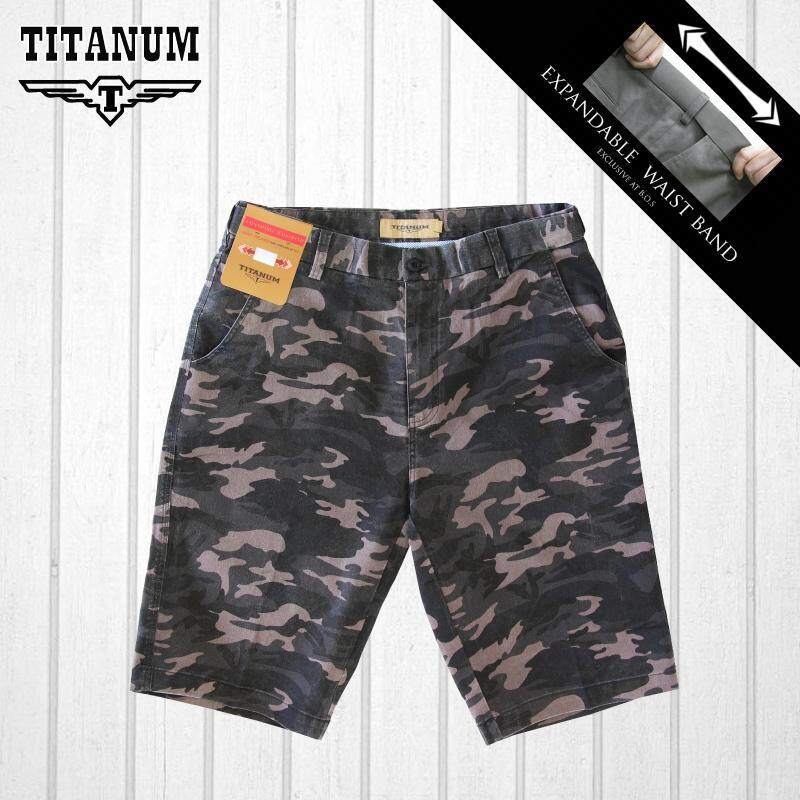 TITANUM BIG SIZE Army Print Short Pant TCSP509 (Brown)