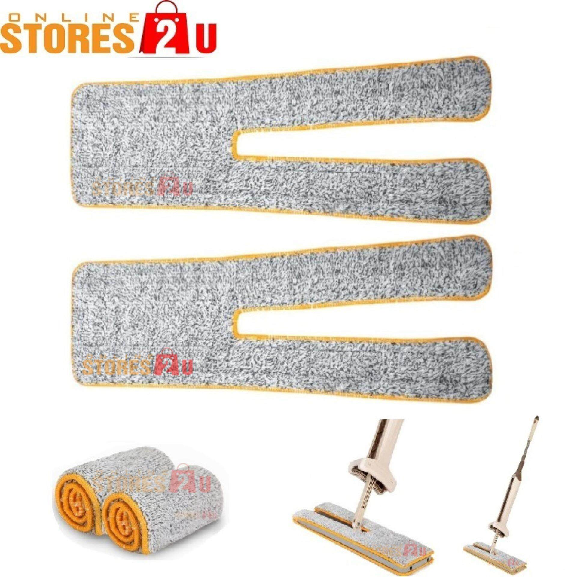 2pc [Stores2u] 38cm Replacement Microfiber Mop Head Refill Pad Accessories Parts for 38cm Double Sided Mop