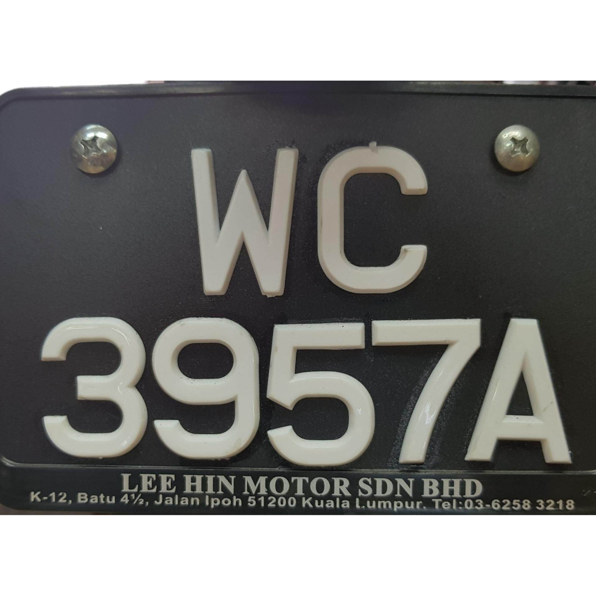 Motorcycle Rear Number Plate