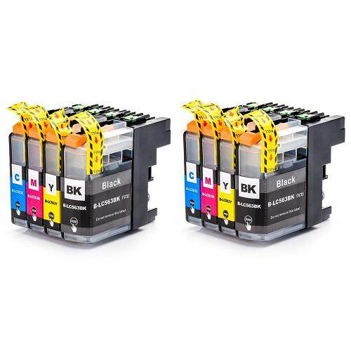 LC 563 Twin Pack LC563 LC-563 Compatible 4 Multi Pack Ink Cartridge (B/CM/Y)