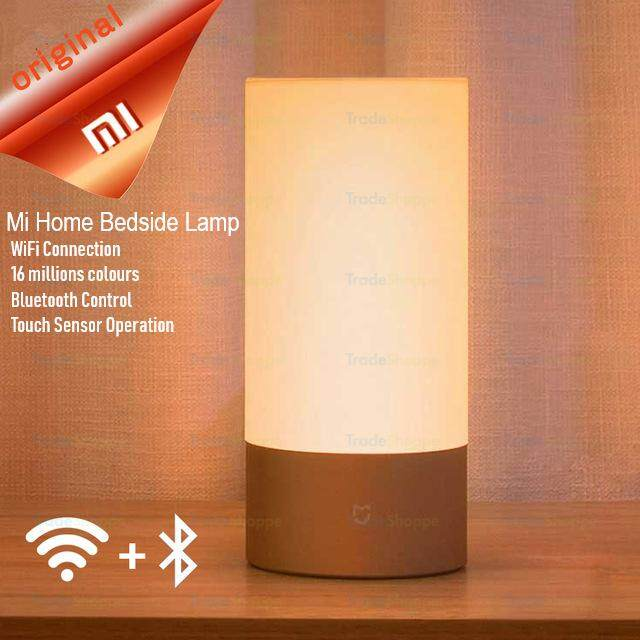 Original Xiaomi Mijia Bedside Lamp Bluetooth WiFi Connection Touch Control 300Lm 16 Million RGB Color