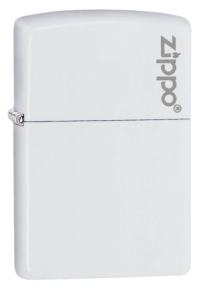 Zippo 214ZL White Matte with Zippo Logo