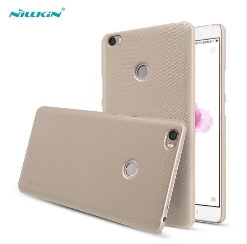 Nillkin Super Frosted Shield PC Plastic Matte back cover case for Xiaomi Mi Mi Max 2 (Black/Gold)