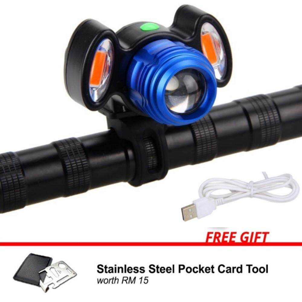 USB Rechargeable LED XML T6 CREE LED Bicycle Bike Front Light Cycling Lamp IP65 Waterproof Adjustable Zooms - MI3301