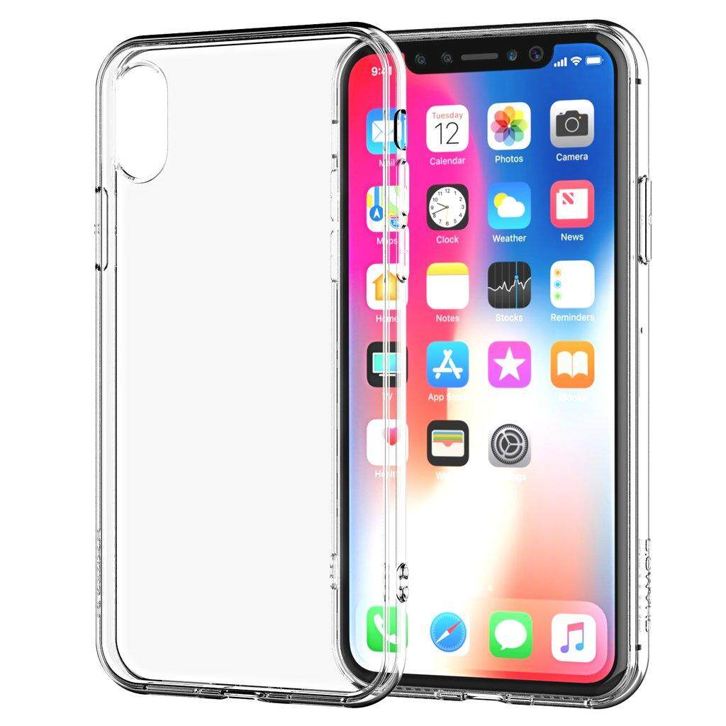 TPU Soft Gel Silicone Slim Case for Apple iPhone XS Max (Transparent)