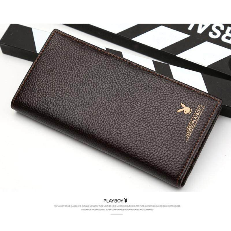 PLAYBOY LEATHER LONG WALLET WITH 11 CARD SLOTS +FREE GIFT! MI0702