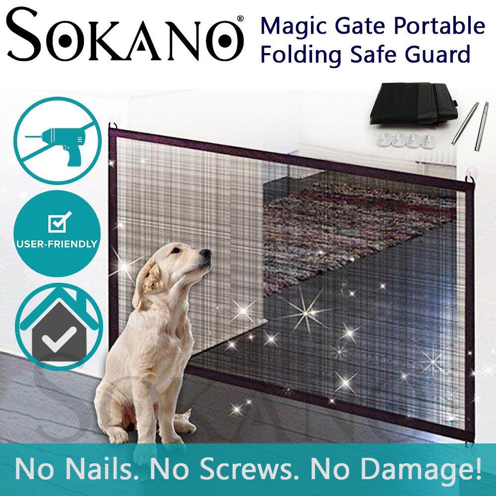 Sokano Magic Gate Portable Folding Safe Guard Install Anywhere (Pet safety)