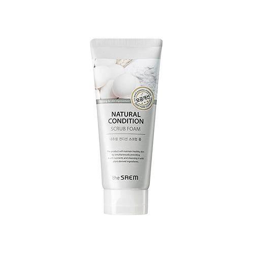 THE SAEM Natural Condition Scrub Foam 150ml - Deep Pore Cleansing