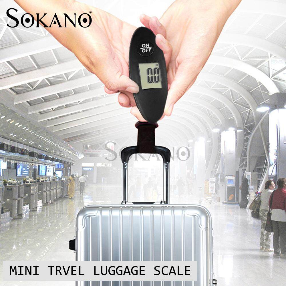 SOKANO Mini Travel Luggage Scale 001 Portable Electronic LCD Display Digital up to 40KG (With Free Battery)