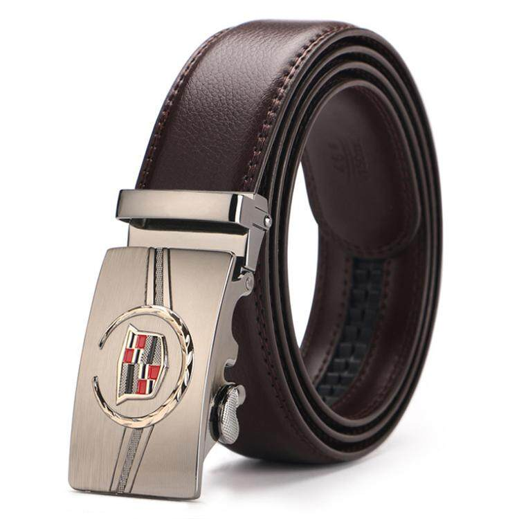 Doulilu Men Leather Belt Premium Quality Smooth Automatic Buckle Tali Pinggang Waist Belt 260 -MI2602