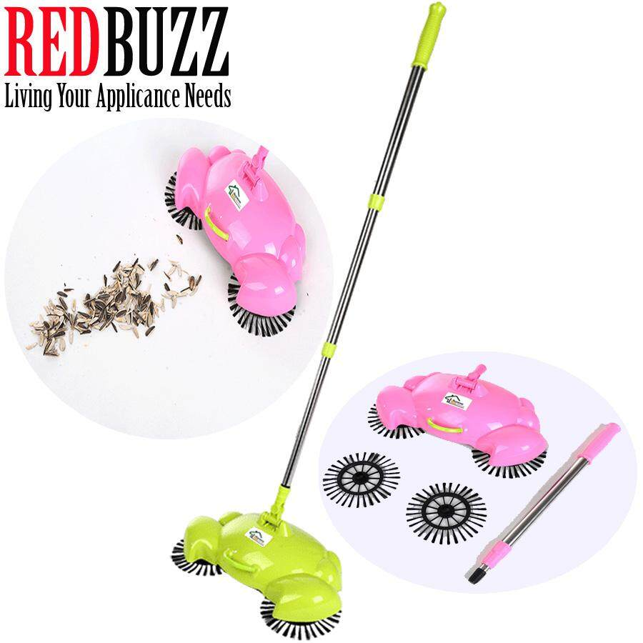 REDBUZZ Crab Design Fully Automatic Hand Push Sweeping Machine Magic broom House Cleaner Sweeper  (Green)