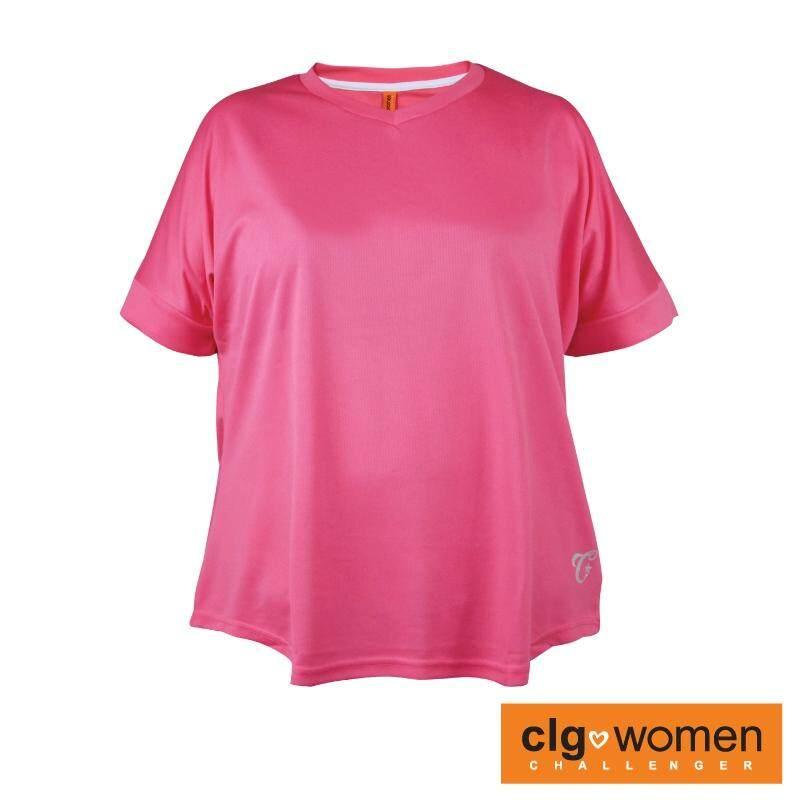 CHALLENGER WOMEN PLUS SIZE Ladies V-Neck Tee CHW100001 (Fuchsia)