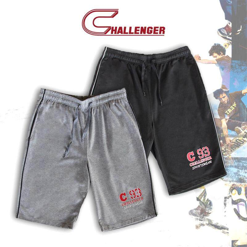CHALLENGER BIG SIZE Track Bottom Shorts with Tipping CH5022 (Melange)