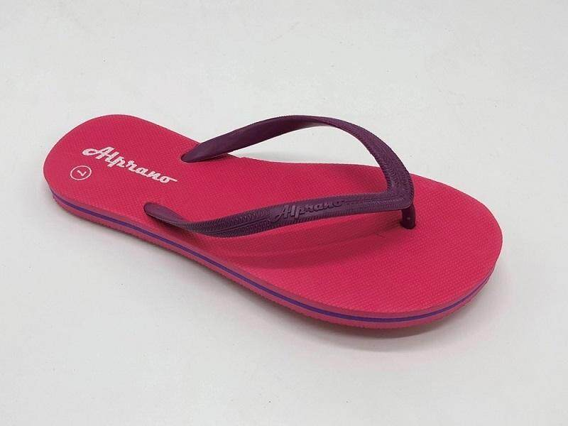 Alprano APL-06 Rubber Anti Slip Flat Slippers Beach Slippers Ladies Designs UK Size 7 (Pink)