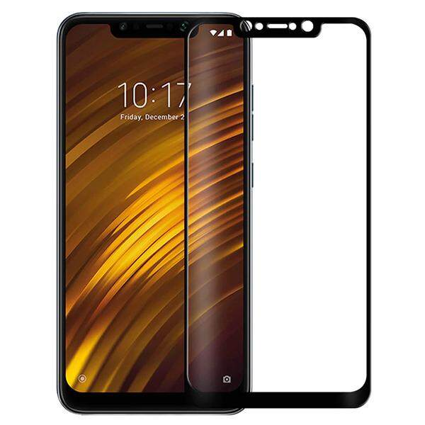 Tempered Glass for Xiaomi Pocophone F1 - 2.5D Curve Screen Protector [Full Cover Black]