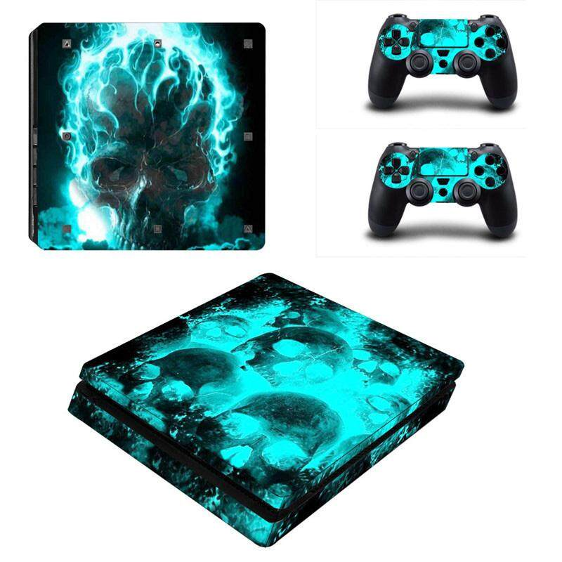 Skull Sticker Console Decal Controller Skin Cover For Playstation 4 PS4 Slim YSP4S-0015 -