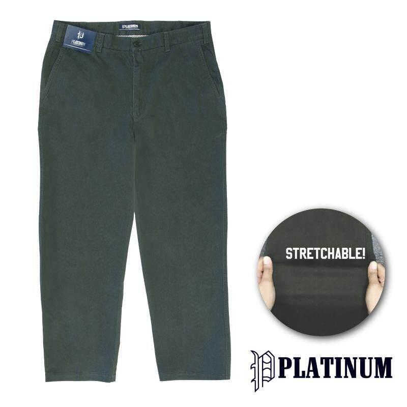 PLATINUM BIG SIZE Stretchable Fine Cotton PM653 (Charcoal)