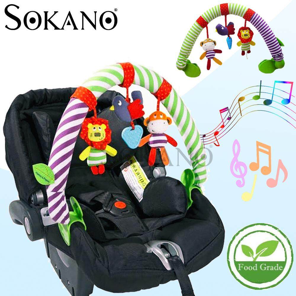 SOKANO MamiBebby Soft Animal Stuff Toy Doll Rattler For Stroller Baby, Cradle, Cot, Carrier Educational Toy 0-24 Months