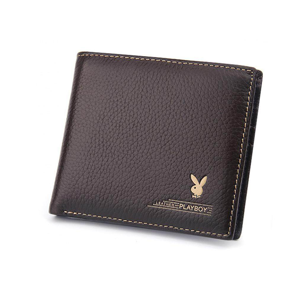 PLAYBOY Leather Short Wallet With 6 Card Slots Elegant Casual Classic Edition +Free Gift! MI0722