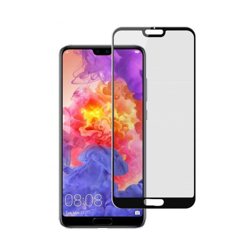 Tempered Glass for Huawei P20 [Full Cover Black] Screen Protector