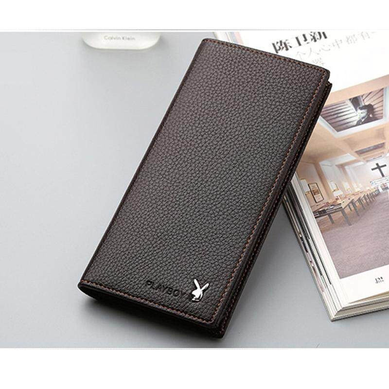 PLAYBOY LEATHER LONG WALLET WITH 11 CARD SLOTS +FREE GIFT! MI0712