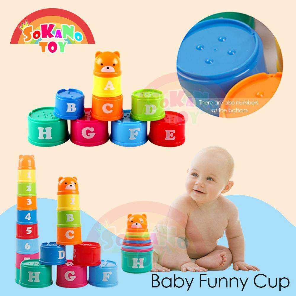 SOKANO TOY Baby Funny Cup - Learning Alphabet Numeric and Color Concept baby toys