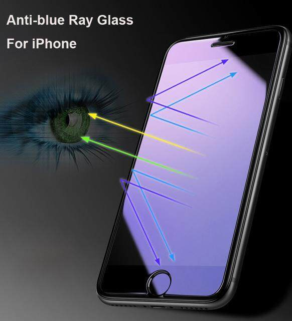 Tempered Glass for Apple iPhone X - 2.5D Curve Screen Protector - Anti-Blue/Blue Ray