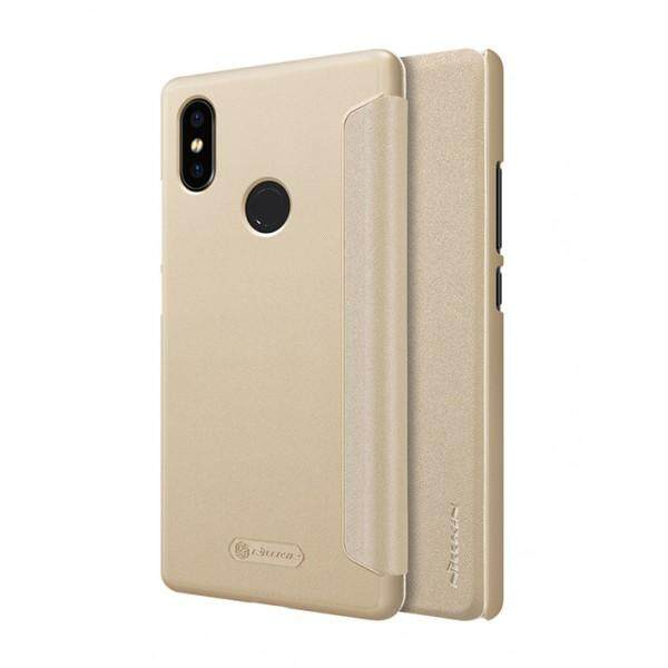 Nillkin Leather Case Sparkle Series Super Thin Flip Cover for Xiaomi Mi 8 SE (Grey/Gold)