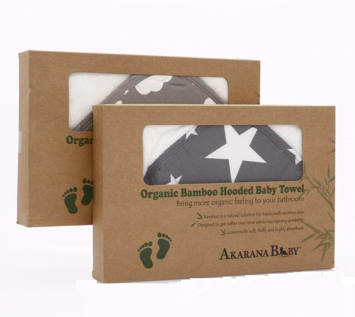 Organic Bamboo Hooded Towel 2 sets Combo (Cloud & Star)